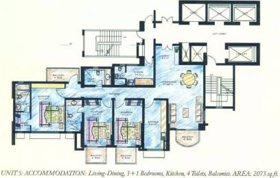 2073 sqft, 3 bhk Apartment in DLF Richmond Park Sector 27, Gurgaon at Rs. 60000