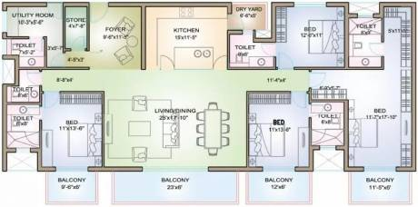 3375 sqft, 4 bhk Apartment in TATA Raisina Residency Sector 59, Gurgaon at Rs. 2.7000 Cr