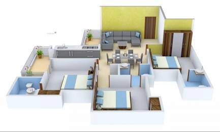 1578 sqft, 3 bhk Apartment in Tulip Violet Sector 69, Gurgaon at Rs. 42000