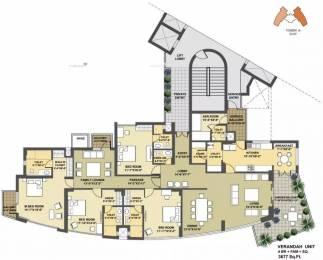 3677 sqft, 4 bhk Apartment in Pioneer Presidia Sector 62, Gurgaon at Rs. 75000