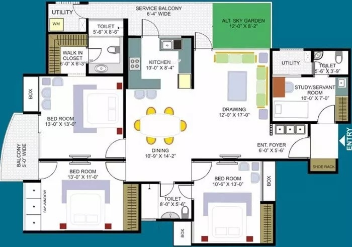 2175 sq ft 3 BHK 2T North facing Apartment for sale at Rs 78.00 lacs ...