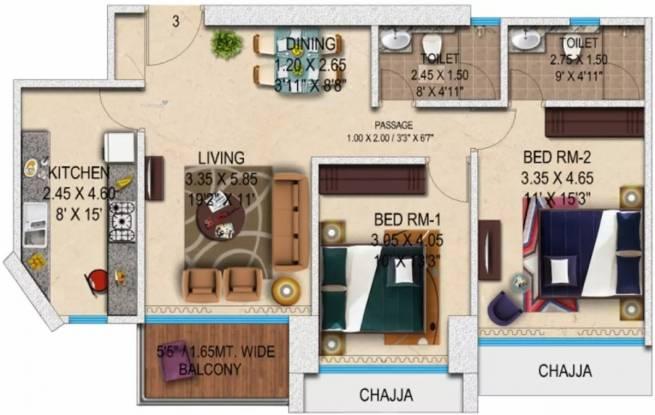 1400 sqft, 2 bhk Apartment in  Transcon Triumph Tower 1 Andheri West, Mumbai at Rs. 3.5000 Cr