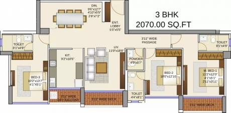 2070 sqft, 3 bhk Apartment in Runwal Elegante Andheri West, Mumbai at Rs. 5.0000 Cr