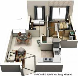 783 sqft, 1 bhk Apartment in Siddha Seabrook Kandivali West, Mumbai at Rs. 93.4300 Lacs