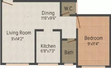 516 sqft, 1 bhk Apartment in Mauli Omkar Malad East, Mumbai at Rs. 74.0000 Lacs