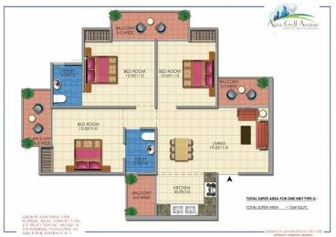 1369 sqft, 3 bhk Apartment in Apex Apex Golf Avenue Greater Noida West, Greater Noida at Rs. 46.8198 Lacs