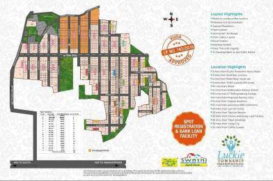 5400 sqft, Plot in Swathi Luckie Township Phase II Kothavalasa, Visakhapatnam at Rs. 30.0000 Lacs
