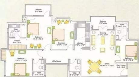 1825 sqft, 4 bhk Apartment in Ashiana Upvan Ahinsa Khand 2, Ghaziabad at Rs. 1.1000 Cr