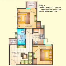 682 sqft, 2 bhk Apartment in Builder Jeevan aadhar Dohra Road, Bareilly at Rs. 12.7500 Lacs
