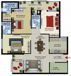 1750 sqft, 3 bhk BuilderFloor in Builder Amayra greens Kharar Mohali, Chandigarh at Rs. 16000