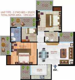 1295 sqft, 2 bhk Apartment in Apex Athena Sector 75, Noida at Rs. 64.7500 Lacs