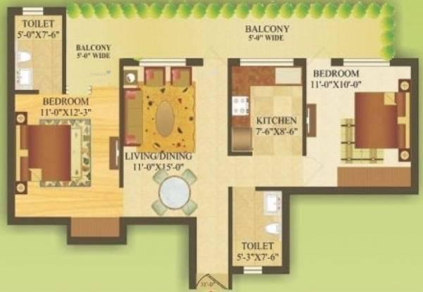 1045 sqft, 2 bhk Apartment in Gardenia Gateway Sector 75, Noida at Rs. 48.0700 Lacs