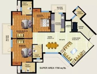 1790 sqft, 3 bhk Apartment in Mapsko Royale Ville Sector 82, Gurgaon at Rs. 10000
