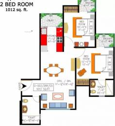 1012 sqft, 2 bhk Apartment in Rishabh Cloud9 Towers Shakti Khand, Ghaziabad at Rs. 50.0000 Lacs