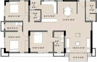 2275 sqft, 3 bhk Apartment in Amaya 612 Elevate Ambavadi, Ahmedabad at Rs. 25000