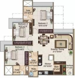 1665 sqft, 3 bhk Apartment in Ajmera And Sheetal Casa Vyoma Vastrapur, Ahmedabad at Rs. 40000