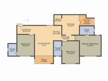 1730 sqft, 3 bhk Apartment in Savvy Swaraaj Sports Living Gota, Ahmedabad at Rs. 22000