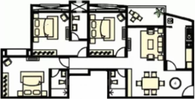 1550 sqft, 3 bhk Apartment in Karia Konark Exotica Wagholi, Pune at Rs. 85.0000 Lacs