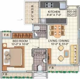 620 sqft, 1 bhk Apartment in Dheeraj Jade Residences Wagholi, Pune at Rs. 29.0000 Lacs
