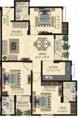 1525 sqft, 3 bhk Apartment in Vardhman Horizon Jhotwara, Jaipur at Rs. 38.1250 Lacs