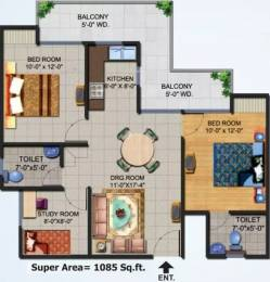 1085 sqft, 2 bhk Apartment in Ajnara Homes Sector 16B Noida Extension, Greater Noida at Rs. 36.0000 Lacs