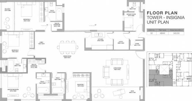 3762 sqft, 4 bhk Apartment in Godrej Platinum Alipore, Kolkata at Rs. 4.8906 Cr