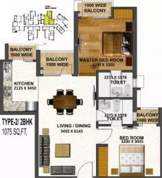 1075 sqft, 2 bhk Apartment in Tulsiani Urban Woods Sushant Golf City, Lucknow at Rs. 25.0000 Lacs