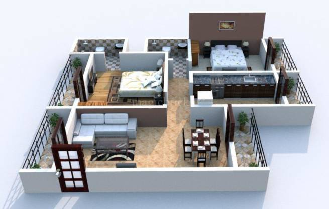1150 sqft, 2 bhk Apartment in Arihant Superstructures Builders Clan Aalishan Sector 36 Kharghar, Mumbai at Rs. 90.0000 Lacs