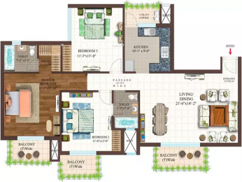 1675 sqft, 3 bhk Apartment in Ace Golfshire Sector 150, Noida at Rs. 80.4000 Lacs