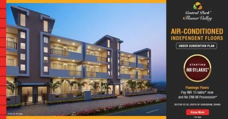 1093 sqft, 2 bhk BuilderFloor in Builder Central Park Flamingo Floors Sector 33 south of gurgaon Gurgaon Sector 33, Gurgaon at Rs. 91.0000 Lacs