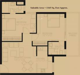 1165 sqft, 2 bhk Apartment in TDI Ourania Sector 53, Gurgaon at Rs. 36000