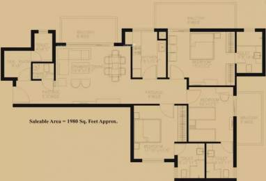 1980 sqft, 3 bhk Apartment in TDI Ourania Sector 53, Gurgaon at Rs. 2.0000 Cr