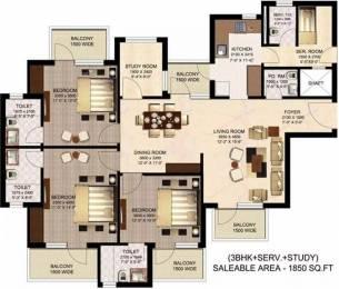 1850 sqft, 3 bhk Apartment in Suncity Sukriti CGHS Sector 56, Gurgaon at Rs. 1.3000 Cr
