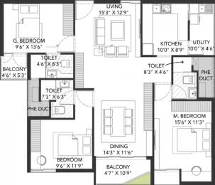 1556 sqft, 3 bhk Apartment in Grand Capitol Mangalagiri, Vijayawada at Rs. 66.0000 Lacs