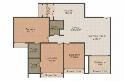 1876 sqft, 3 bhk Apartment in Goyal Orchid Harmony Shela, Ahmedabad at Rs. 22000