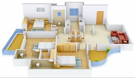 1895 sqft, 3 bhk Apartment in Pearls Nirmal Chhaya Towers VIP Rd, Zirakpur at Rs. 54.5000 Lacs