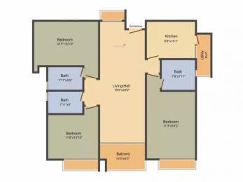 2084 sqft, 3 bhk Apartment in TVH Ouranya Bay Padur, Chennai at Rs. 92.0000 Lacs