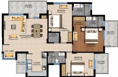 1690 sqft, 3 bhk Apartment in Sushma Crescent Dhakoli, Zirakpur at Rs. 55.0000 Lacs