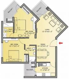 1395 sqft, 2 bhk Apartment in Bestech Park View Residences Sector 66, Mohali at Rs. 85.0000 Lacs