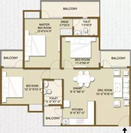 1250 sqft, 3 bhk Apartment in Panchsheel Hynish Sector 1 Noida Extension, Greater Noida at Rs. 8500
