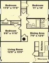 1450 sqft, 3 bhk Apartment in Prestige Greenwoods CV Raman Nagar, Bangalore at Rs. 40000