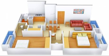 1083 sqft, 2 bhk Apartment in AVS Kavya Apartments Jodhpur Village, Ahmedabad at Rs. 53.0000 Lacs