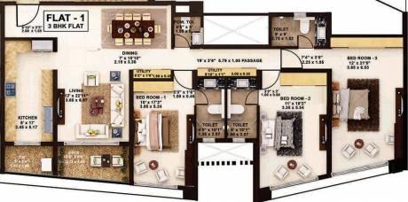 1816 sqft, 3 bhk Apartment in Rustomjee Oriana Bandra East, Mumbai at Rs. 1.6000 Lacs
