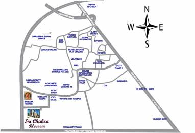 1105 sqft, 2 bhk Apartment in Builder sri chakra blossoms electronic city 1st phase Electronic City Phase 1, Bangalore at Rs. 28.8489 Lacs