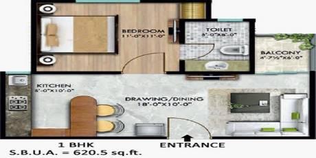 620 sqft, 1 bhk Apartment in SSG Shiv Sarovar Ajmer Road, Jaipur at Rs. 15.9900 Lacs