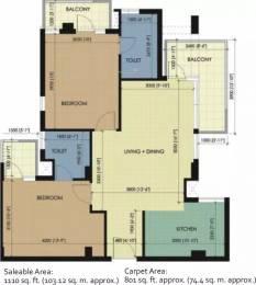 1110 sqft, 2 bhk Apartment in Essel Asha Panchkula Sector 14 Panchkula Extension, Panchkula at Rs. 12000