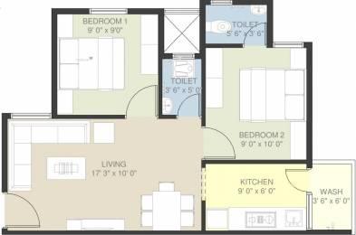 925 sqft, 2 bhk Apartment in Nebula Aavaas Changodar, Ahmedabad at Rs. 17.0000 Lacs