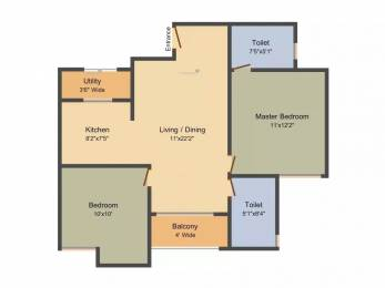 950 sqft, 2 bhk Apartment in Subha 9 Sky Vue Anekal City, Bangalore at Rs. 34.2000 Lacs