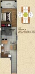 447 sqft, 1 bhk Apartment in  Ananda Sector 95, Gurgaon at Rs. 14.0400 Lacs