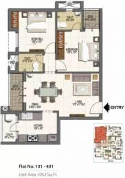 1052 sqft, 2 bhk Apartment in Doshi Wellspring Medavakkam, Chennai at Rs. 48.3394 Lacs